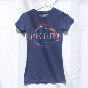 Tops - PInk Floyd | Blue Lightweight Graphic Band Tee XS